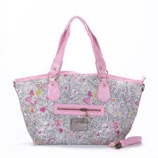 Coach Legacy In Signature Jacquard Medium Pink Grey Totes EWO
