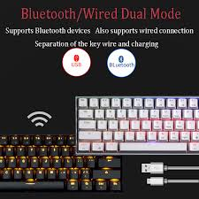 Royal Kludge <b>RK61</b> Ergonomic bluetooth <b>Mechanical Gaming</b> ...