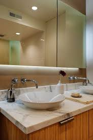 bathroom vanity san francisco. San Francisco Nickel Vessel With Contemporary Bathroom Vanity Lights Modern And Bamboo Cabinets Round White Sink O
