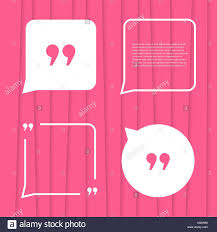Set Of Citation On Pink Striped Background Stock Vector Art
