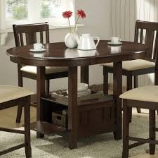 round expandable kitchen table dining room table with storage underneath