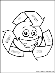 Earth Day Coloring Pages. Recycling For Recycle Coloring Pages ...