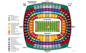 Chiefs Seating Chart With Rows Arrowhead Stadium Seating Chart