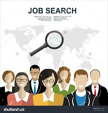 search job symbol magnifying glass flat stock vector  search for job symbol magnifying glass flat design website banner of networking find