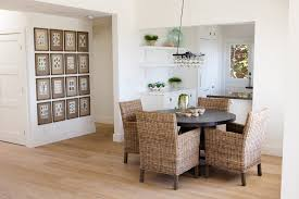 dining room rattan chairs. wicker dining chairs room with artwork baseboards cottage country - rattan