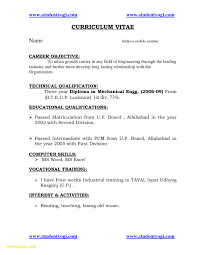 Career Objective Mechanical Engineer Unique Resume Objective For