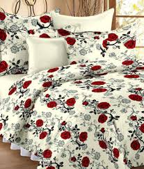 Ahmedabad Cotton Double Cotton Floral Bed Sheet ...