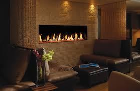 davinci single sided linear gas fireplace