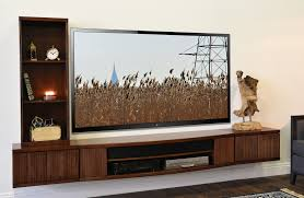 Floating Tv Console Curve Piece Bookcase Mocha