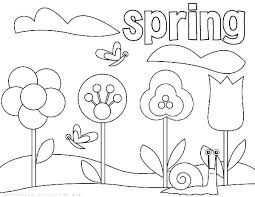 Spring Coloring Pictures Printable N6844 Spring Coloring Pages For