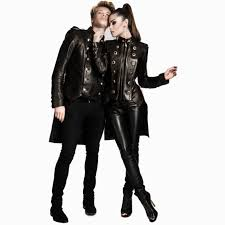 mens new black military leather luxury tails tailcoat frock coat morning jacket