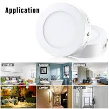 Led Panel Light Application Hommoo 2pcs 6w Flat Surface Mounted Ceiling Down Panel