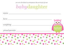 Baby Girl Birth Announcements Template Free Free Baby Girl Announcement Templates Ba Girl Birth Announcement