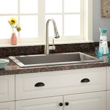 Kitchen Sink Granite Composite 33 Ignacio Drop In Granite Composite Sink Gray Kitchen