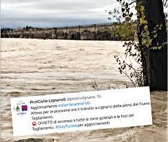 Allerta meteo, la piena del Tagliamento attesa a Lignano ...