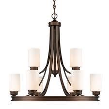 golden lighting hidalgo sovereign bronze nine light chandelier