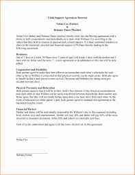 Custody Agreement Sample Child Support Agreement Letter On Letter Custody Agreement Letters