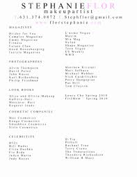 Artist Resumemplate Format For Makeup Inspiration Production Resumes