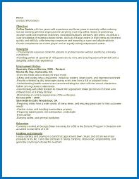 Cafe Attendant Sample Resume Delectable Resume Objective Examples Starbucks Packed With Barista Resume
