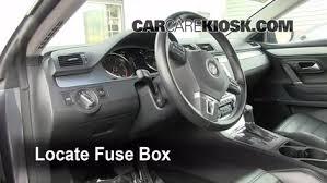 interior fuse box location 2009 2017 volkswagen cc 2009 locate interior fuse box and remove cover