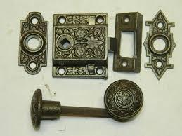 antique door hardware. Item #SCREEN-DOOR-LATCH-5, Antique Restoration Hardware Door Q