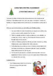 worksheet christmas writing assignment english worksheet christmas writing assignment