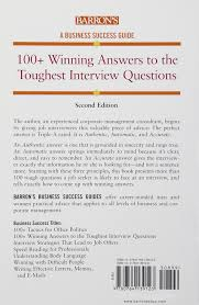 Interview Questions About Success 100 Winning Answers To The Toughest Interview Questions Barrons