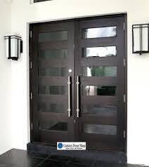 contemporary front doors double front