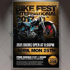 motorcycle club flyers bike fest international premium flyer psd template psdmarket