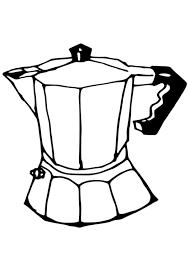 Kleurplaat Koffiezetkan Afb 19087