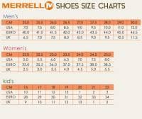 Merrell Clothing Size Chart Merrell Womens Size Chart Merrell Sizing