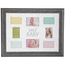 sweet baby collage wood wall frame