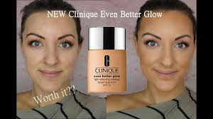 new clinique even better glow foundation review demo
