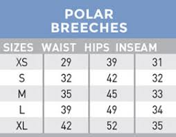Polar Size Chart Mountain Horse Polar Breeches Mountain Horse Usa Horse