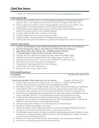 Fair Medical Representative Resume Format With Sales Sample Device