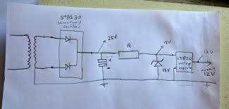 simple rectified voltage regulator not giving enough power 18v zenner to drop the voltage to 18v which are fed to a voltage regulator l78s12 hoping to have a stabilized 12v dc i ve supplied a circuit diagram