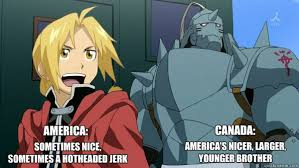 Sometimes nice, sometimes a hotheaded jerk AMERICA: CANADA ... via Relatably.com