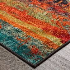 interior orange and turquoise area rug awesome red for with regard to 0 from orange