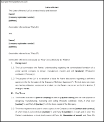 Loi Template Samples Position Justification Commercial