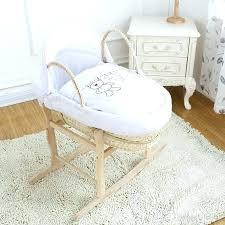 badger moses basket basket bedding cover set for infant basket waffle fabric embroidery bassinet bedding set