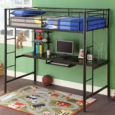 Metal Loft Bunk Bed With Desk Underneath  Home Improvement 2017  Within Bunk  Bed With
