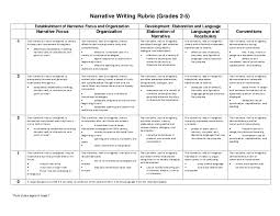 narrative writing rubric grade  narrative writing rubric grades 2 5 establishment of narrative focus and organization development