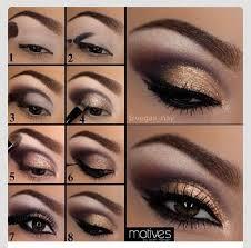 smokey gold eyeshadow tutorial fashion beauty trusper tip makeup