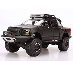 Amazon.com: Ford 2017 F-150 Raptor Pickup Truck Matt Black Off Road ...