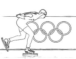 Kleurplaat Olympische Winterspelen