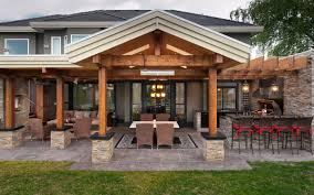 Simple Outdoor Kitchen Plans 3alhkecom A Enchanting Soft Brown Wooden Outdoor Kitchen Plans