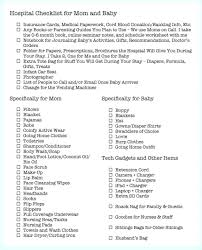 Baby Stuff Checklist Packing Your Maternity Hospital Bag For Mum And Baby