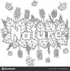 Natuur Word Pagina Kleurplaten Voor Volwassenen Kinderen Doodle