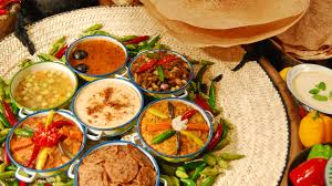 traditional dishes background