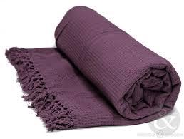 honeycomb purple luxury cotton throw  bedding uk